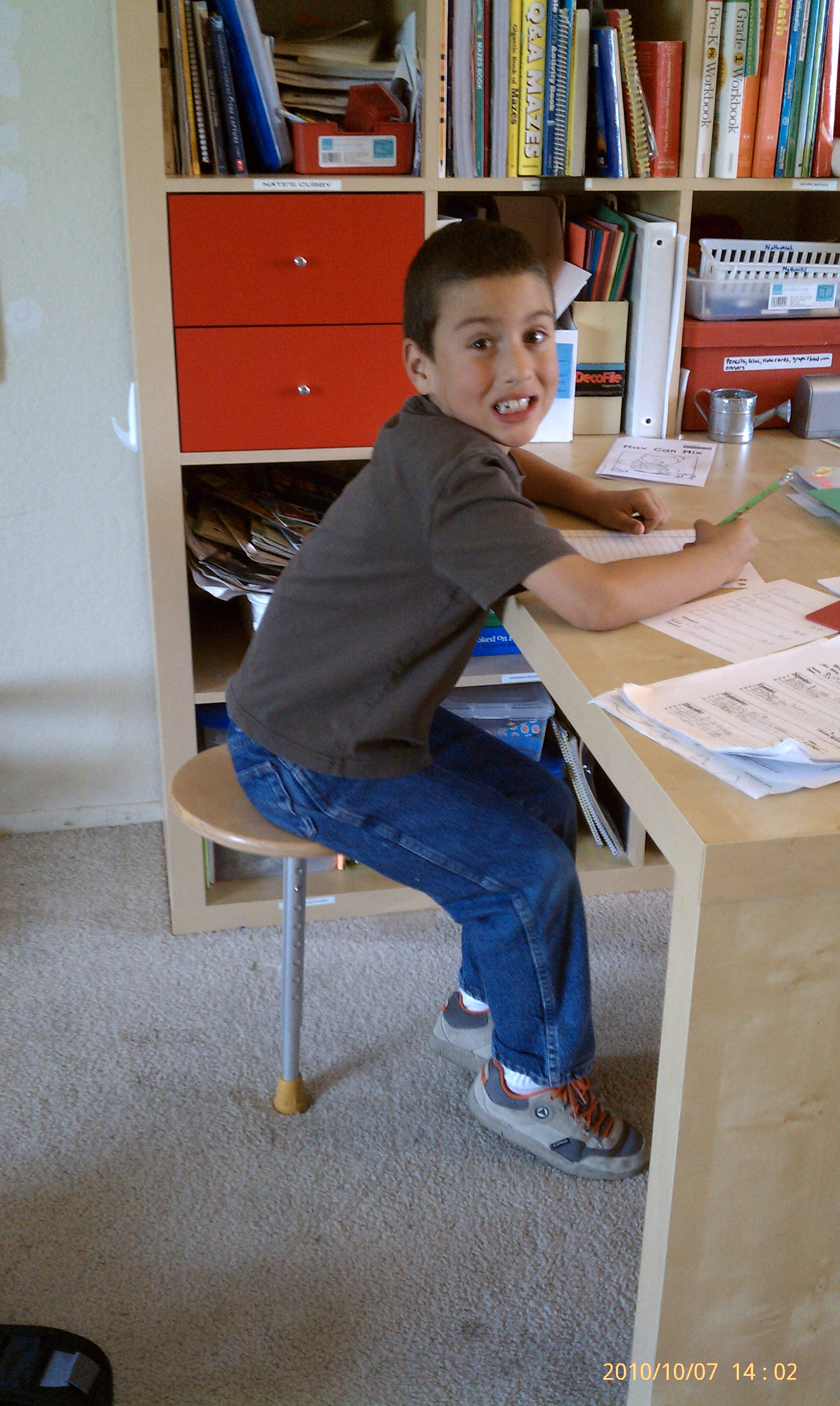 One Leg Therapy Stool Autism