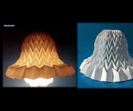 Tutorial 11 Paper Bell with miura fold / Lampshade Bell