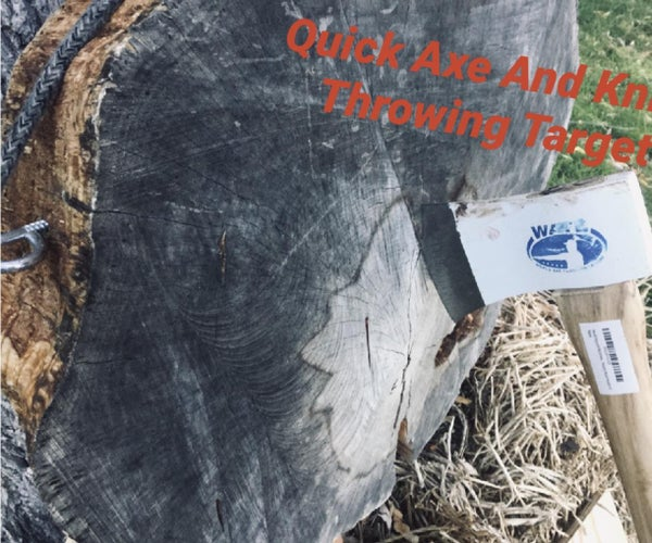 Quick and Easy Axe/Knife Throwing Target