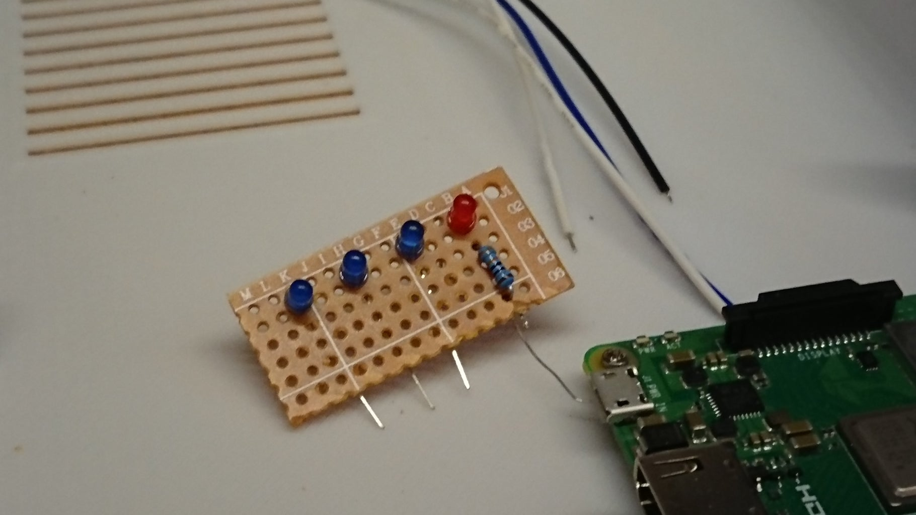 Buttons and Signal LEDs