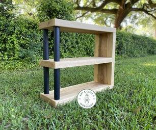 DIY Shoe Rack / Storage Shelf Using Cypress & Recycled Fence Posts