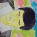 Watercolor Rainbow Portrait