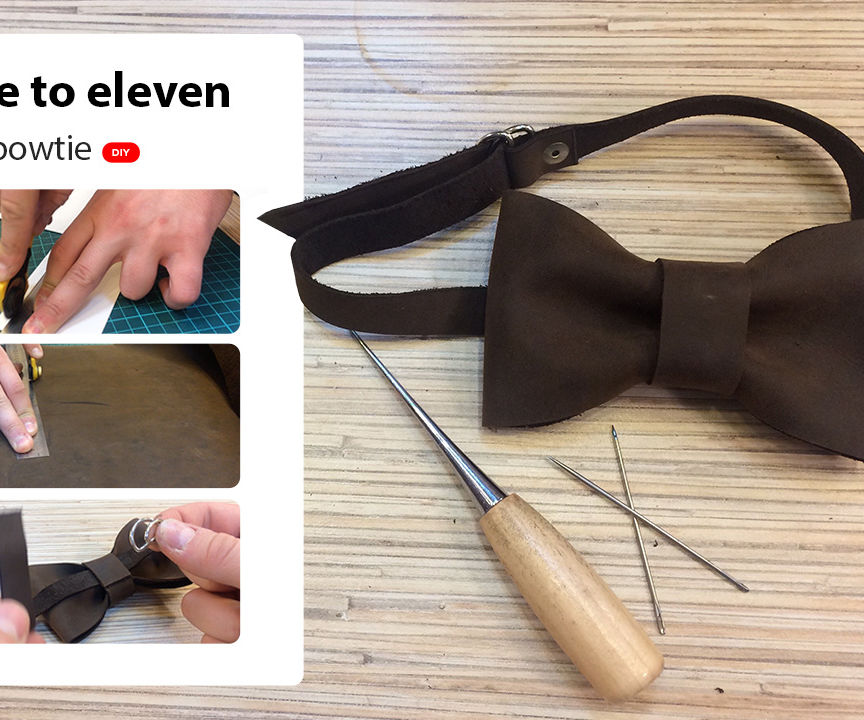 DIY Leather Bowtie by Twelve to Eleven
