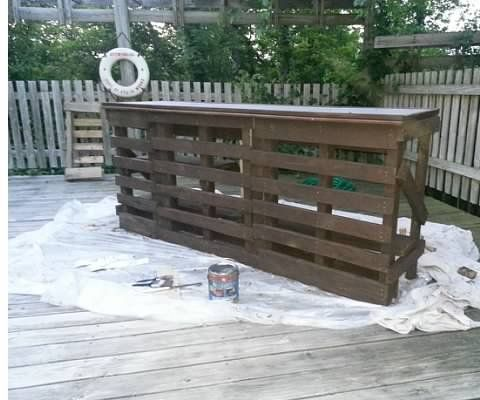 Pallet Bar 4 Steps With Pictures, How To Build An Outdoor Bar Out Of Pallets