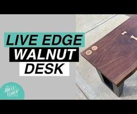 LIVE EDGE WALNUT SLAB DESK