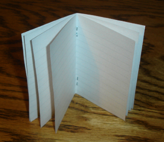 Quick 16 Page Ruled Pocket Book From 1 Piece of Paper with No Fancy Cuts or Folds (PocketMod)