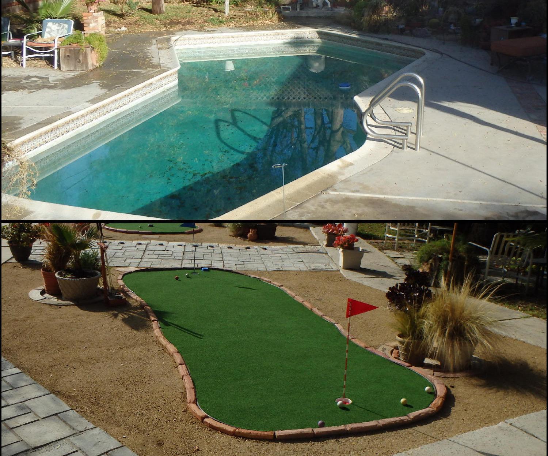 Convert Swimming Pool to Putting Green