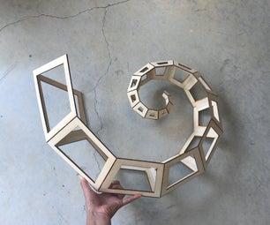 卷曲螺旋动力学雕塑