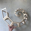 Curling Spiral Kinetic Sculpture