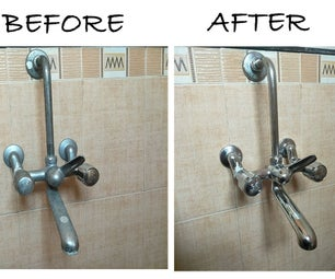 Green Cleaning 10 Year Old Faucet