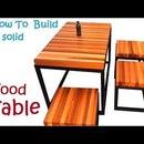 Wood and Metal Coffee Table