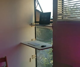 Build a Functional Sit-Stand Desk in a Window