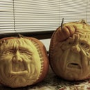 Sculpting Pumpkin Brothers.