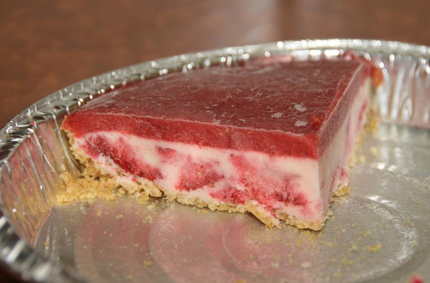 Frozen Strawberry Cheesecakes