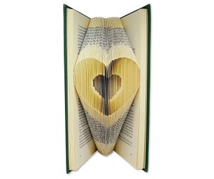 Clear Cut & Fold Book Folding Pattern - Very Easy and Fast to Practice This Method of Creating Folded Book Art
