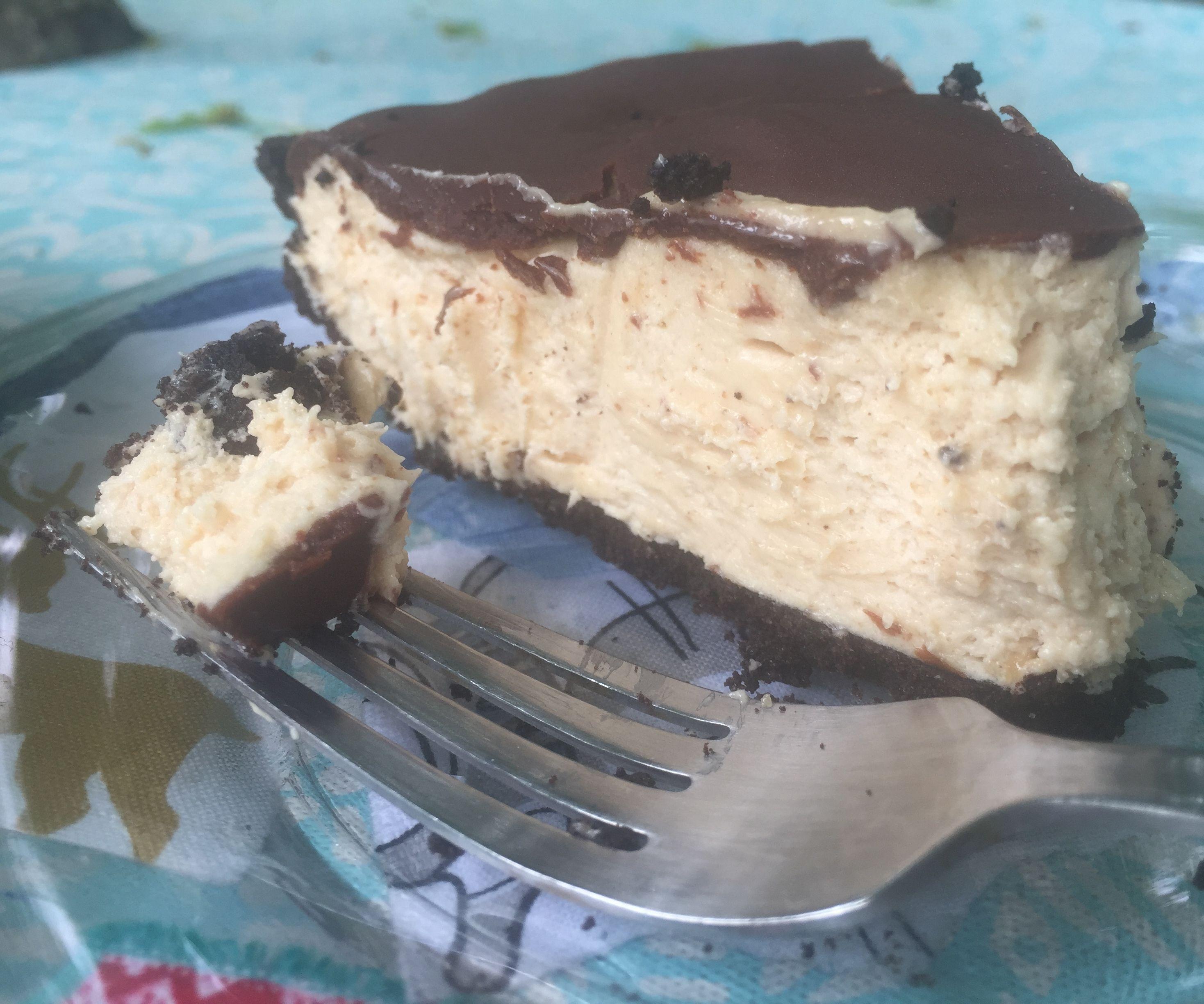 Chocolate Honey Glazed Peanut Butter Pie