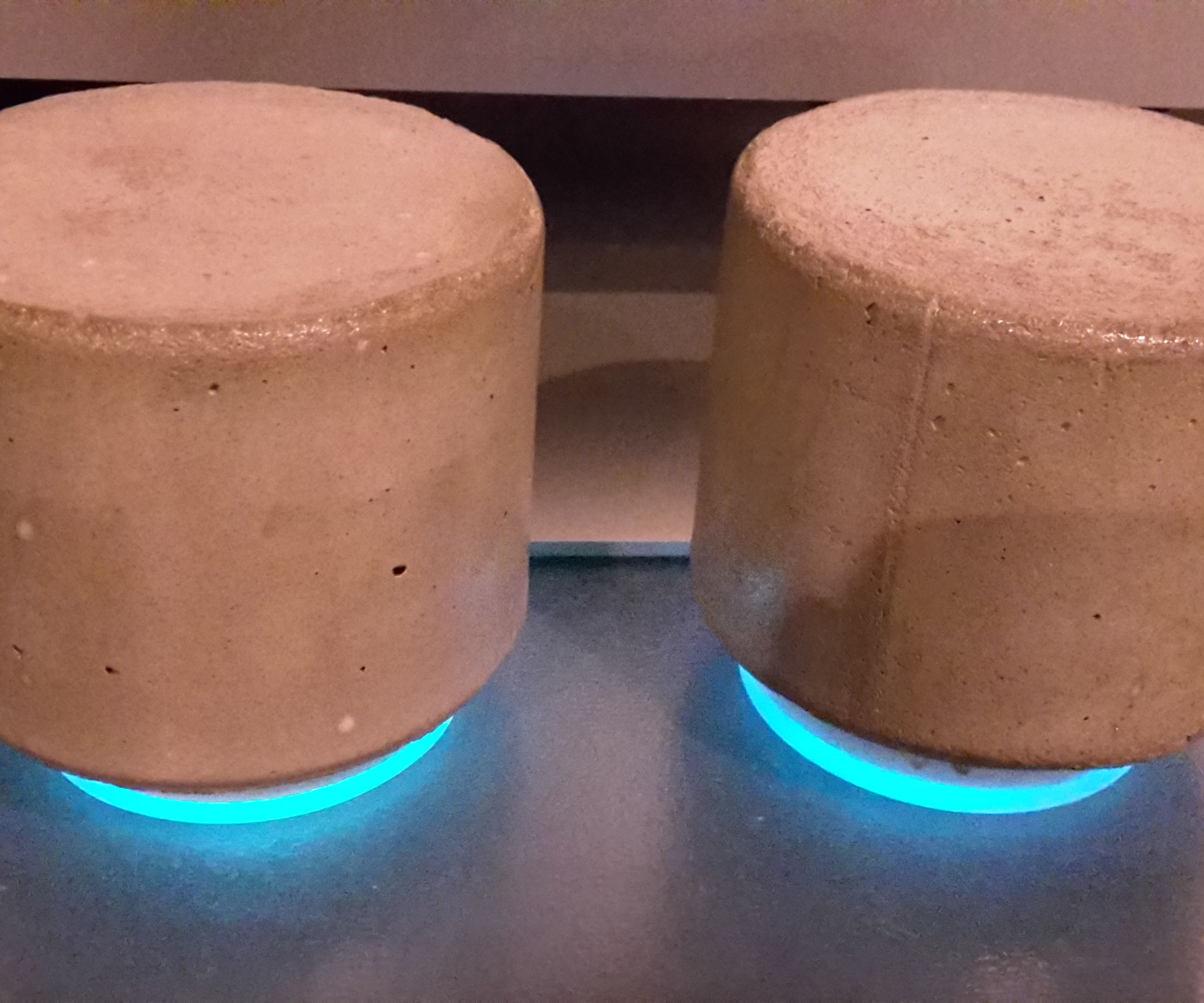 The multiglow concrete speakers