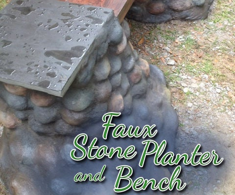 Faux Stone Bench and Planter