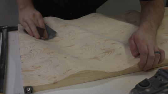 Shaping and Sanding the Flag