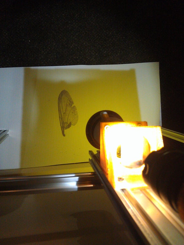 Projection Microscope From Broken Projector