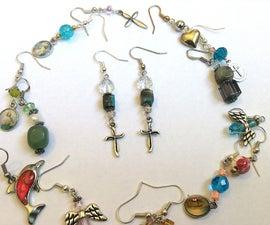 Super Easy Bead and Charm Earrings