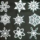 Make 6-Pointed Paper Snowflakes