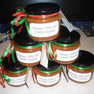Tomatoes With Dates and Green Chilli Chutney