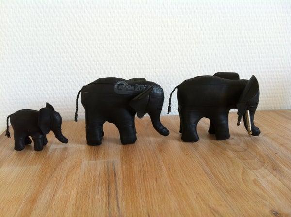 Make Elephant of Bicycle Tubes