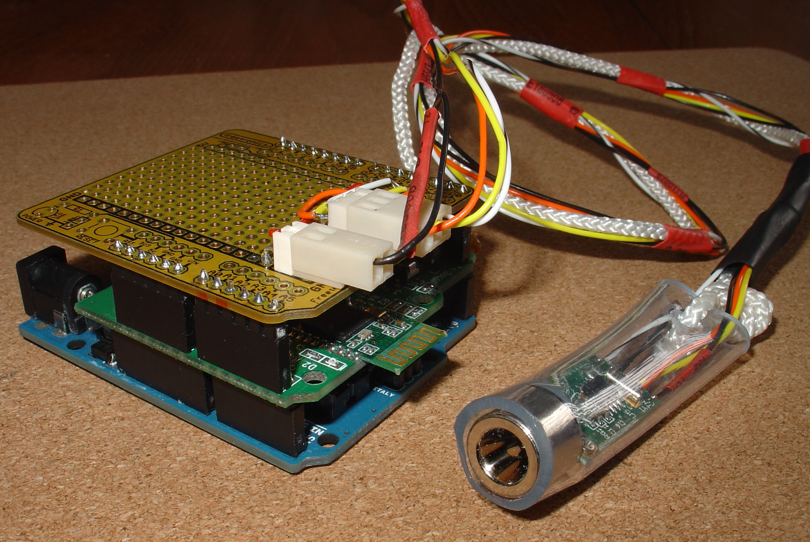 Android pfodApp controlled datalogging Arduino IRTemp Meter