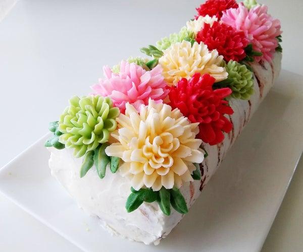 Blooming Birch Swiss Roll Cake
