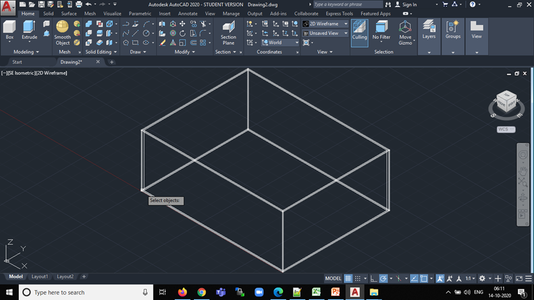 Let's Start Building a 3D Design of the Box Now. . .