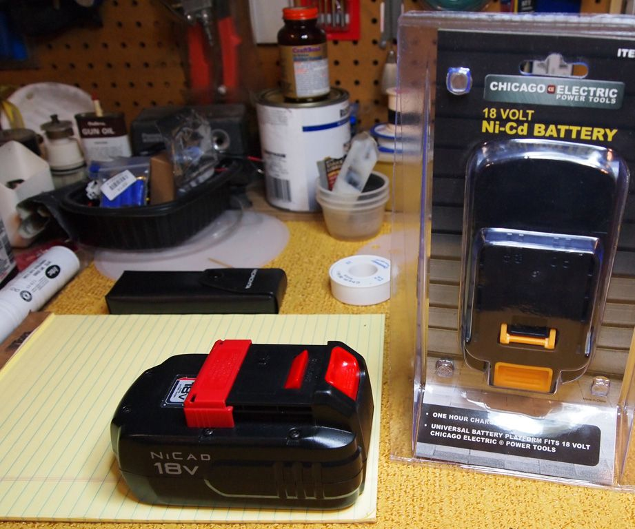 How to recell a Porter Cable 18V Cordless Tool Battery Using Cells from a $15 Harbor Freight Battery
