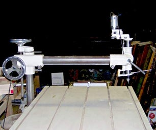 A Radial Drill Press Made From Spare Parts