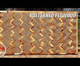 Patterned Plywood Using Only PLYWOOD SCRAPS!
