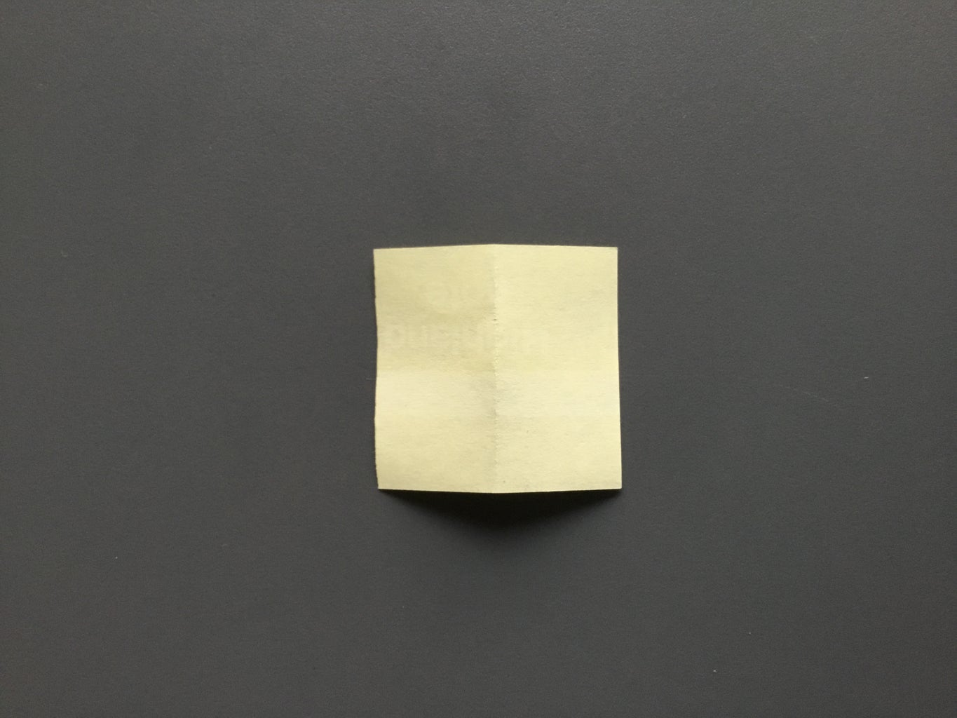 Flip Your Paper Over and Fold the Corners In
