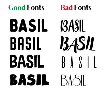 Chose a Sensible Font