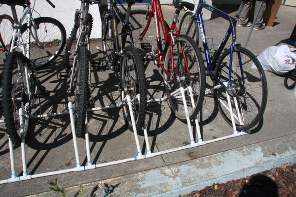 How to Make a Bike Rack Out of PVC Pipe
