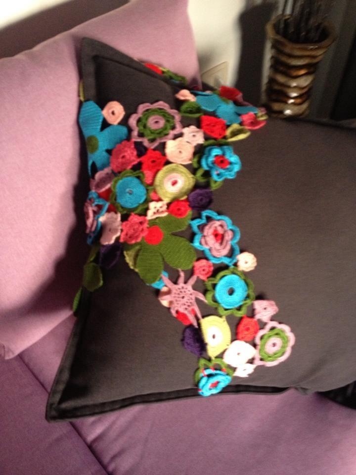 Crouchet Flower Scarf