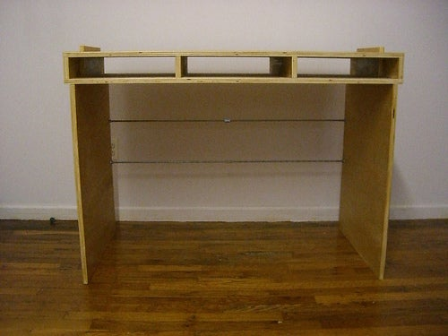 Pack Flat Plywood Desk