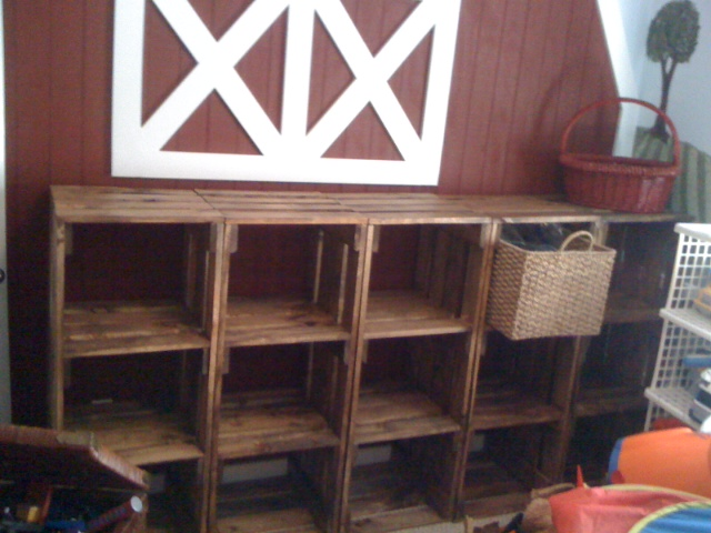 Modular Wood Crate Playroom Storage