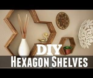 Honeycomb Hexagon Shelves