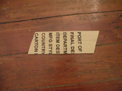 A Word on Cardboard
