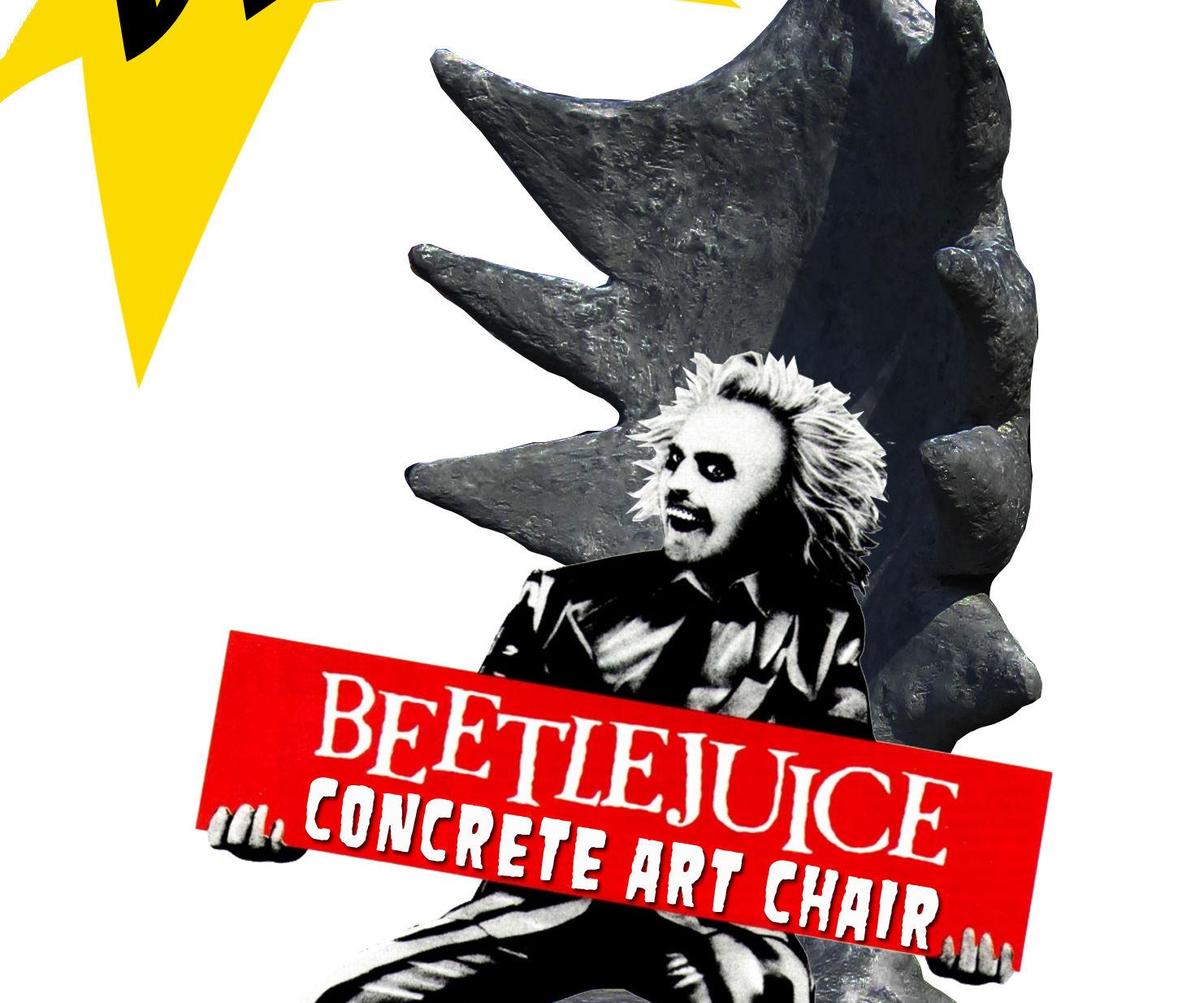 Beetlejuice Concrete Art Chair