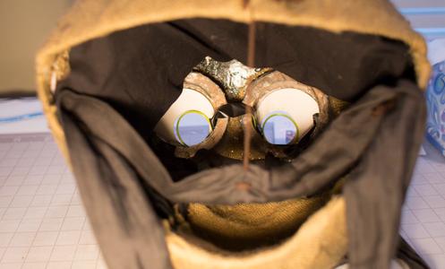 Tim Burton Nine Costume Head: Adding Cushioning to Your Head.