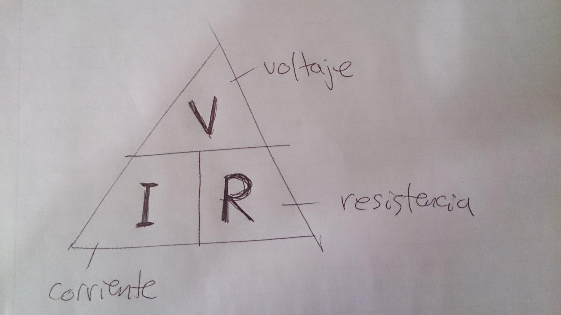 Obtener El Valor De La  Resistencia Necesaria Para Encender El LED