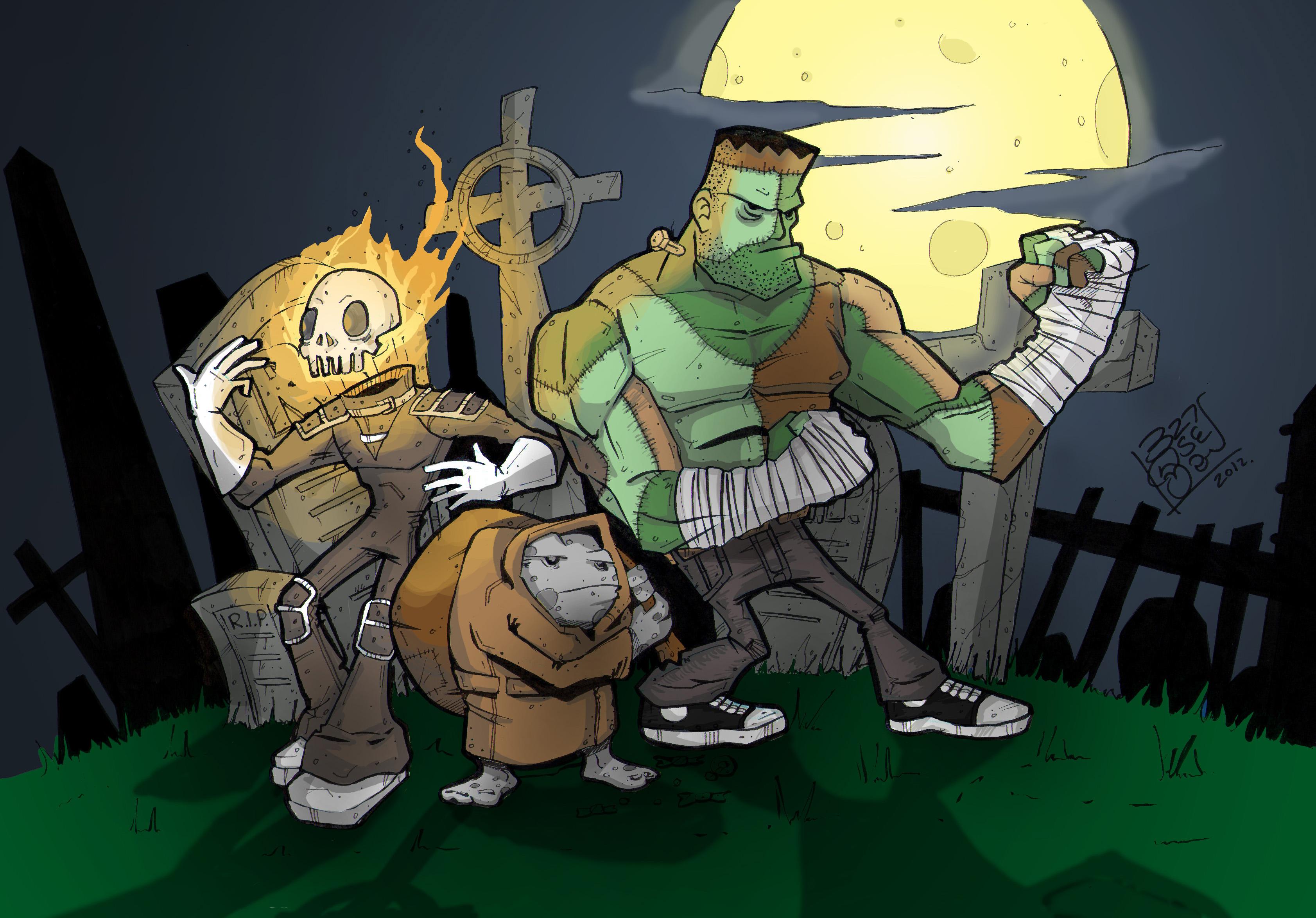 Halloween Graveyard Monsters