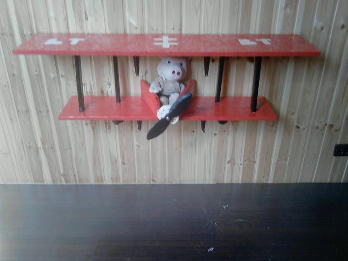 Airplane shelves for kids