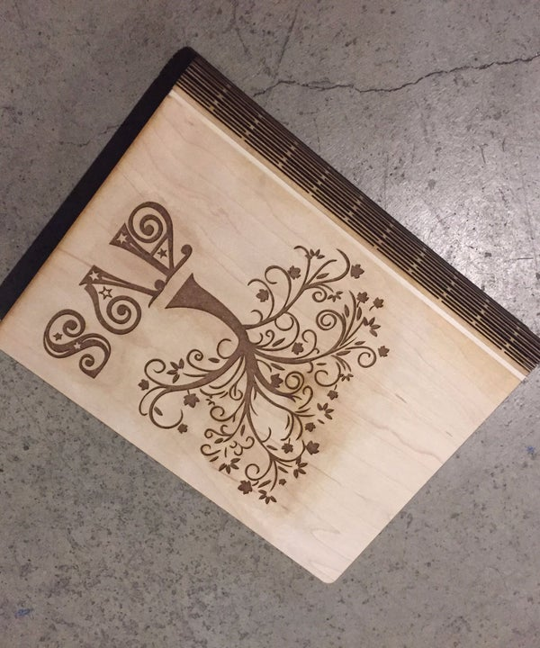 Laser Cut Notebook With Living Hinge