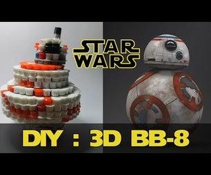3D BB-8 From Star Wars | Bead Sprites (Perler/Hama Beads)