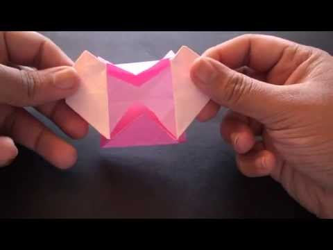 How to make an origami pop up heart box!